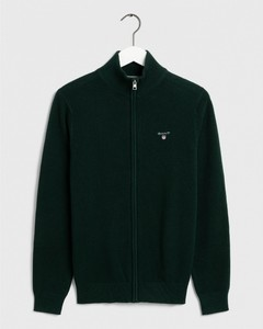 Gant Cotton Piqué Zipper Vest Groen