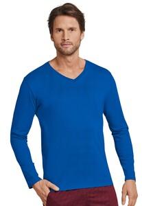 Schiesser Mix & Relax Cotton T-Shirt V-Hals Royal Blue