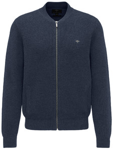 Fynch-Hatton Cardigan College Structure Mix Navy