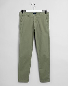 Gant Slim Sunfaded Chino Oil Green
