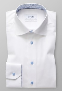 Eton Signature Twill Extra Long Sleeve White