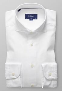 Eton Uni Textured Twill Wit