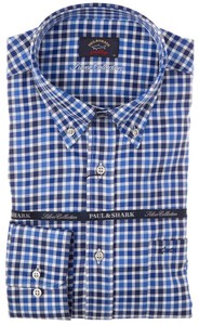 Paul & Shark Silver Collection Yachting Twill Check Blue