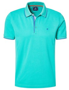 Pierre Cardin Polo Airtouch Piqué Turquoise