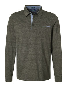 Pierre Cardin Longsleeve Polo Olive Brown