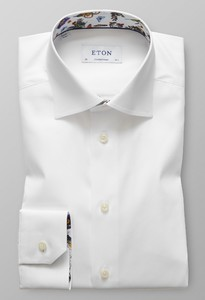 Eton Cutaway Uni Contrast Wit