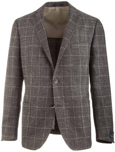 EDUARD DRESSLER Sendrik Shaped Fit Half Lined Check Donker Groen