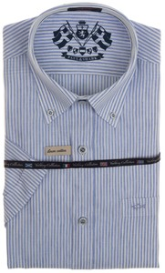 Paul & Shark Striped Yachting Collection Shirt Blauw-Wit