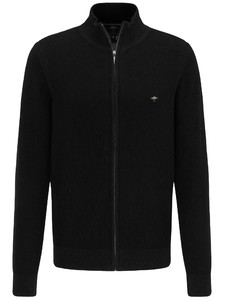 Fynch-Hatton Cardigan Zip Structure Mix Charcoal