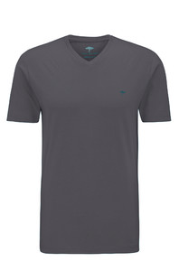 Fynch-Hatton V-Neck T-Shirt Asphalt