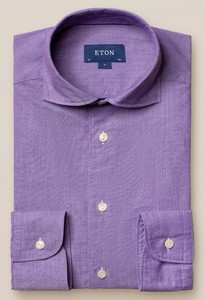 Eton Cotton Silk Uni Soft Paars