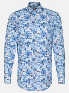 Jacques Britt Poplin Fantasy Under The Sea Navy Blue