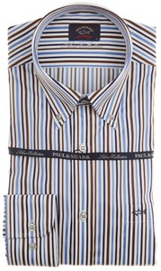Paul & Shark Silver collection Stripe Blauw-Bruin