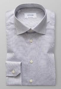 Eton Micro Weave Contrast Dark Navy