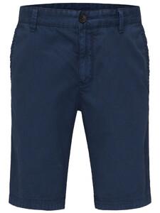 Fynch-Hatton Shorts Printed Cotton Garment Dyed Indigo
