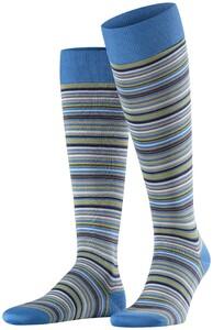 Falke Microblock Stripe Linen Blue