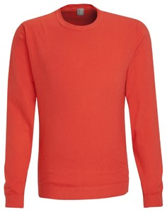 Jacques Britt Cotton Pullover Round Neck Fine Orange