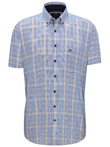 Fynch-Hatton Multi Check Button Down Citron-Palmtree