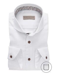 John Miller Modern Cutaway Cotton White