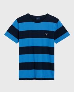 Gant The Original Barstripe T-Shirt Midden Blauw