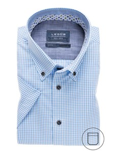 Ledûb Mini Check Button Down Licht Blauw