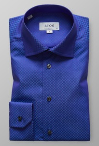 Eton Fantasy Dotted Twill Donker Paars