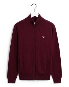 Gant Cotton-Wool Vest Dark Burgundy Melange