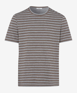 Brax Troy Striped Shirt Bruin