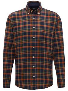 Fynch-Hatton Big Flannel Check Burnt Sienna