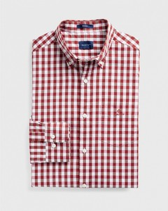 Gant Heather Oxford Gingham Check Mahogany Red