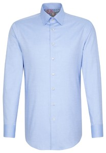 Jacques Britt Oxford Hidden Button Down Blue