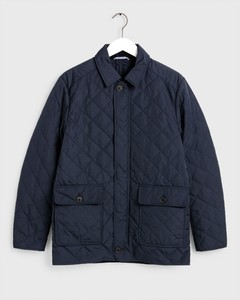 Gant The Quilted City Jacket Avond Blauw