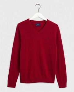 Gant Extrafine Lambswool V-Neck Red