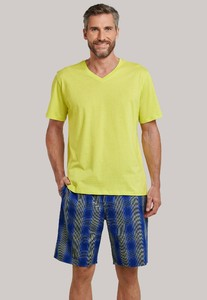 Schiesser Mix & Relax T-Shirt V-Hals Lemon