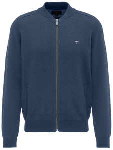 Fynch-Hatton Zipper Cardigan College Collar Night