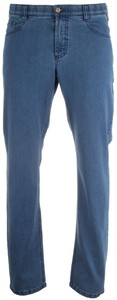MENS Denver Comfort-Fit 5-Pocket Jeans Denim Blue