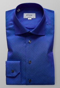 Eton Ditted Fantasy Twill Donker Paars