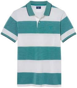 Gant Oxford Polo met 4 Color Stripe Emerald Green