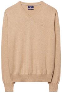 Gant Cotton V-Neck Zand