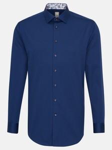 Jacques Britt Business Como Uni Overhemd Donker Blauw Melange