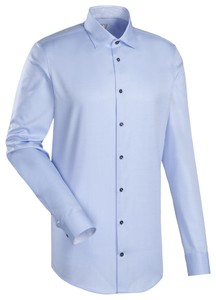 Jacques Britt Contrast Button Shirt Blue