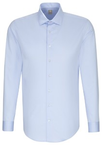 Jacques Britt Cotton Business Uni Overhemd Blauw