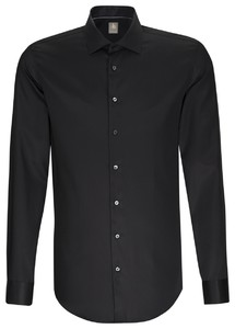 Jacques Britt Cotton Business Uni Shirt Black