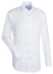 Jacques Britt Custom Structure Kent Overhemd Wit