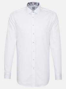 Jacques Britt Customer Business Contrast Shirt White