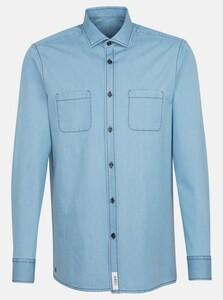 Jacques Britt Denim Overshirt Smart Casual Overshirt Intens Blauw