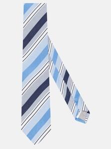 Jacques Britt Diagonal Stripe Tie Sky Blue Melange