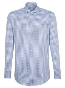 Jacques Britt Fantasy Circle Contrast Shirt Blue