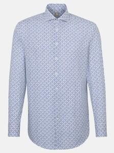 Jacques Britt Fantasy Contrast Overhemd Blauw