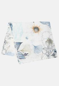 Jacques Britt Fantasy Floral Pocket Square Pastel Blue